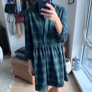 ASOS flannel dress, NWT